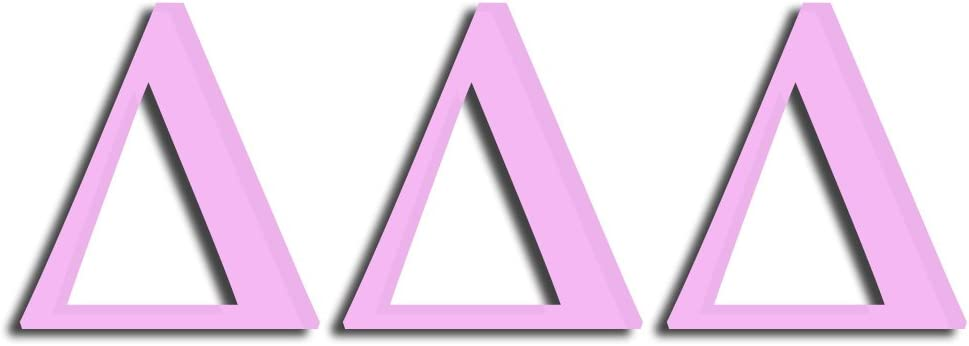Matte Pink Officially Licensed Delta Delta Delta 8 x 3 Window Decal