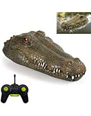 Crocodile Head RC Boat, Simulation Pool Spoof Toy 2.4G Remote Control Boat for Halloween Decoration, Novelty RC Boats Toys for Pools Party
