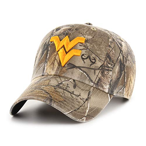 (NCAA West Virginia Mountaineers Realtree OTS Challenger Adjustable Hat, Realtree Camo, One Size)