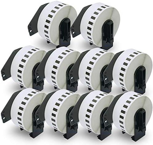 48 meter 500BW QL 500A Papier DK Label f/ür Ptouch QL500 1 Endlosetikett Endlosrolle 29mm P-Touch QL 500 Brother Etiketten 29 mm x 30