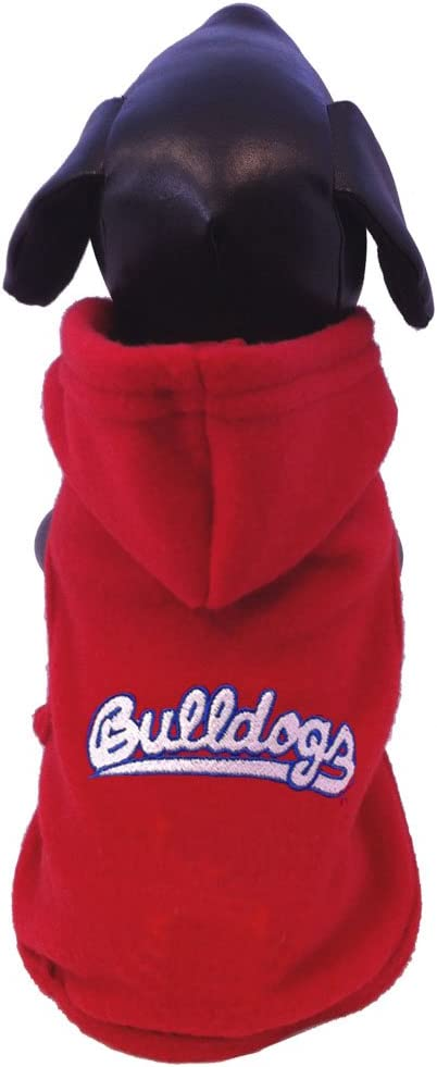 XX-Small NCAA Fresno State Bulldogs Polar Fleece Hooded Dog Jacket