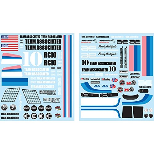 Team Associated 6866 Classic Decal Sheet RC10 Vehicle (Classic Vehicle Parts)