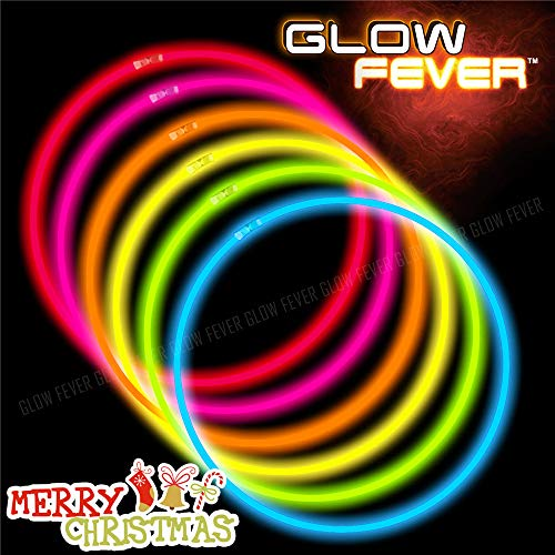 Cheap Glow Necklaces (Glow Sticks Bulk 100ct 22'' Glow Necklaces with Connectors, for Party Festivals Raves Birthday Wedding,)