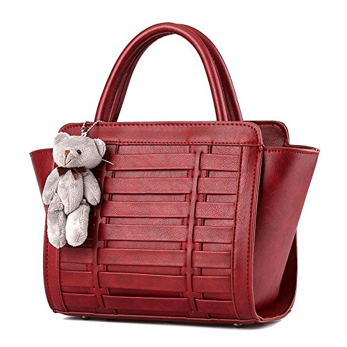 Desklets Women's Bear Decorate Tote Bags Top Handle - Versace India Online