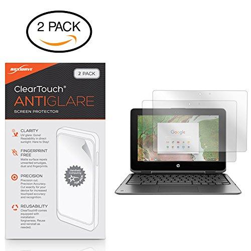 HP Chromebook x360 11 G1 EE Screen Protector, BoxWave [ClearTouch Anti-Glare (2-Pack)] Anti-Fingerprint Matte Film Skin HP Chromebook x360 11 G1 EE
