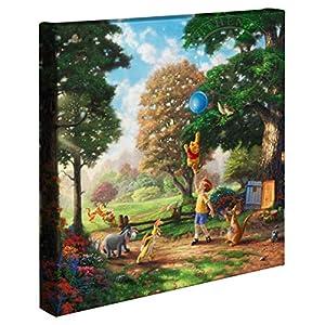 Thomas Kinkade 14×14 Gallery Wrapped Canvas Winnie The Pooh II