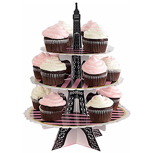 Bridal Shower 'A Day in Paris' 3-Tiered Cupcake Stand (1ct) -