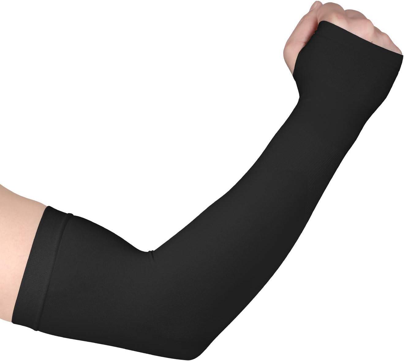 Mangas de brazo enfriamiento UV protección solar guantes antebrazo ...