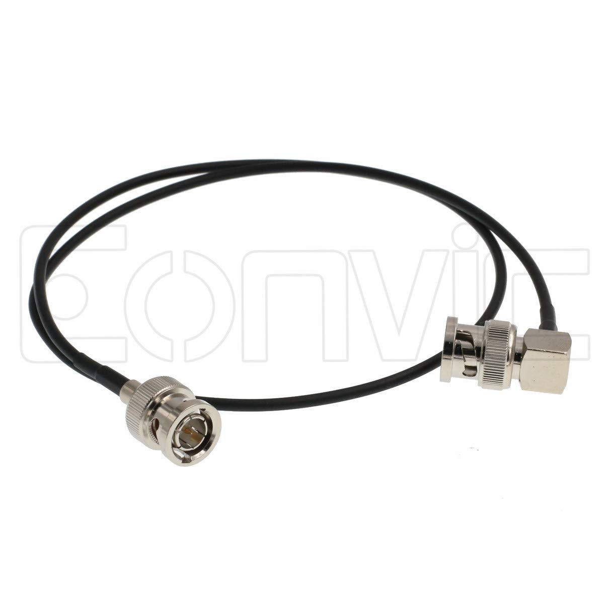 Eonvic 75Ohm BNC Male HD SDI Flexible RG174 RF Coaxial Cable for BMCC Video Camera (60CM Length) by Eonvic