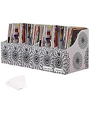 Evelots Magazine File Holder/Organizer-4 Inch Wide-Mandala-with Labels