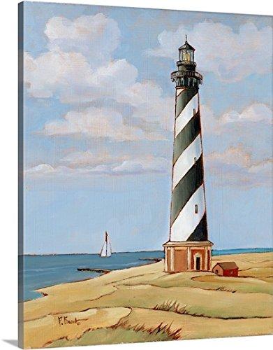 Cape Hatteras Lighthouse Base (Paul Brent Premium Thick-Wrap Canvas Wall Art Print entitled Cape Hatteras)