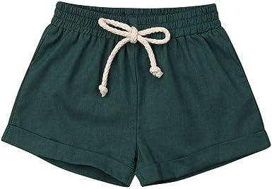 FELZ Pantalones Corto Bebé Niños Niñas, Casual Pantalones Cortos de chándal Pantalones de Cintura elástica Color sólido, bebés de 6 Meses a 3 Años: Amazon.es: Ropa y accesorios