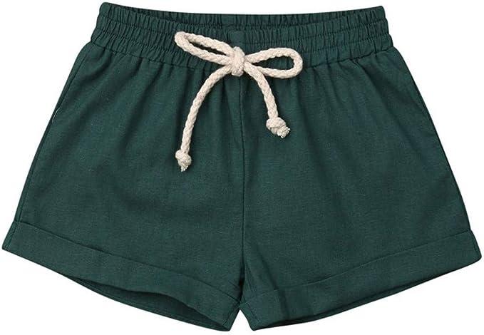 FELZ Pantalones Corto Bebé Niños Niñas, Casual Pantalones Cortos ...