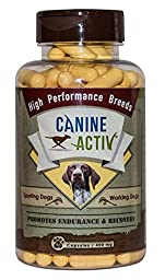 CanineActiv High Performance Bottle of 90 capsules (400mg) for Sporting, Hunting & Workign Dogs
