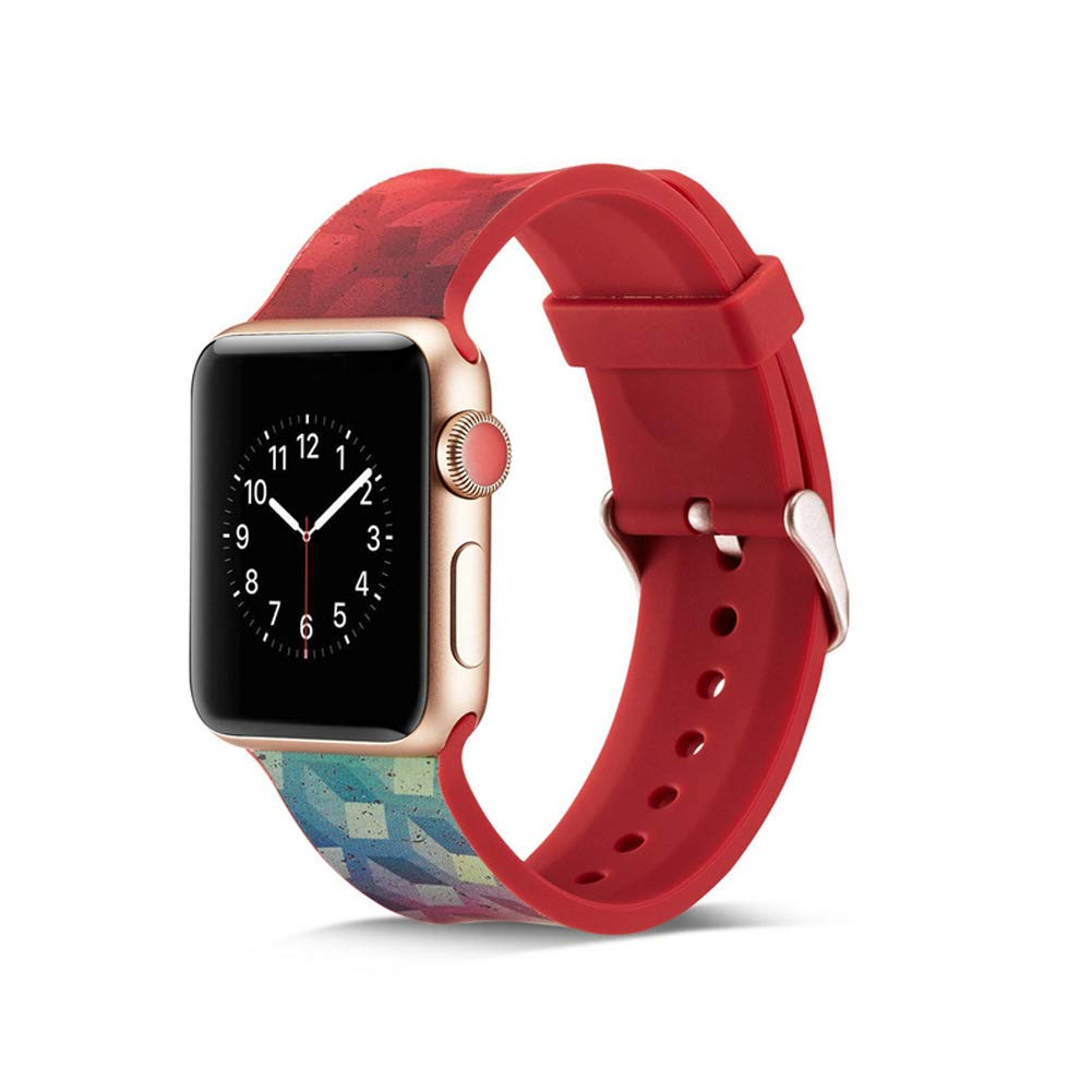 Watch Band 38mm 42mm 40mm 44mm Soft Silicone Replacement Wristband for iWatch Series 4 3 2 1 Nike+ by Kortusa