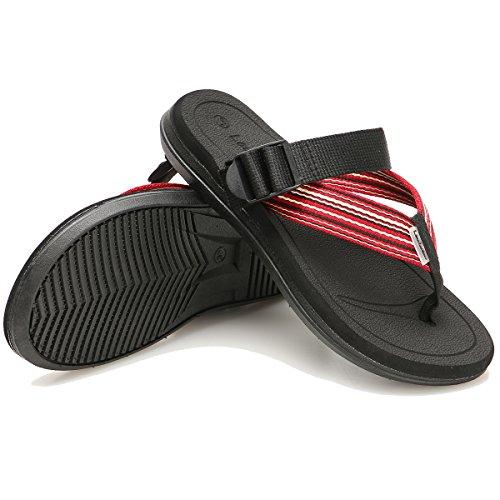 Cior Hommes Et Femmes Tongs À La Main Mode Pantoufle De Plage Intérieure Et Extérieure Classique Tongs Sandales Black01