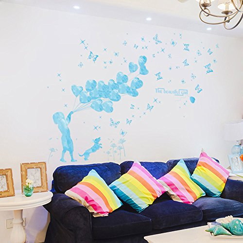 (Lowprofile Summer Inland Wall Decals Sea Style Wall Stickers for Coastal Shop Theme)