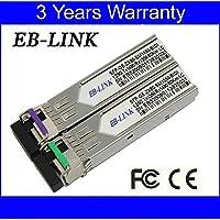EB-LINK 1 Pair Cisco Compatible GLC-BX-U80 GLC-BX-D80 1.25G 1490/1550nm 80KM BIDI WDM SFP Transceiver Module