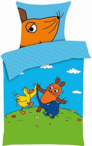 Aminata Kids Kinder Bettwäsche 135x200 Cm Sendung Mit Der Maus