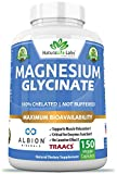 Magnesium Glycinate 100% Albion Minerals TRAACS Maximum Bioavailability Chelate No Laxative Effect Not buffered Vegan Helps Function of Muscles, Bones, Heart Non-GMO