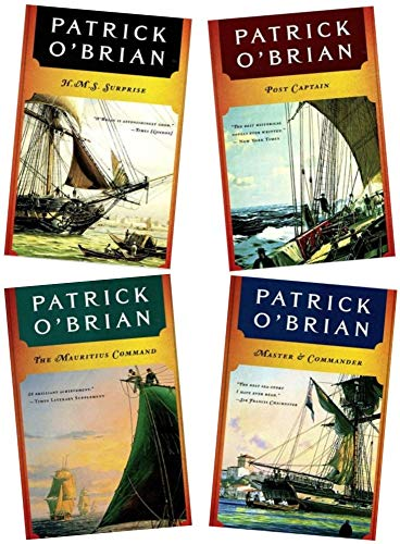 4 Book Set : The Aubrey-Maturin Series - Master and Commander, Post Captain, HMS Surprise, The Mauritius Command (The Aubrey-Maturin Series, Vol. 1, 2, 3, 4) ()