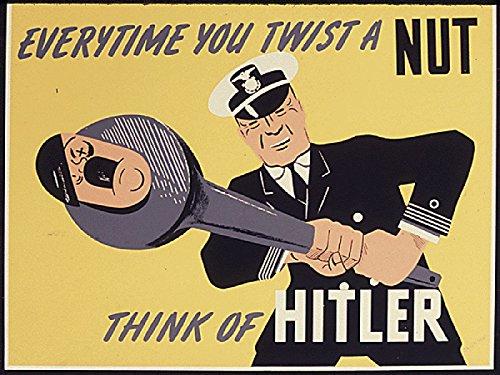 WW2 Poster War Propaganda Poster Hitler Poster 18x24