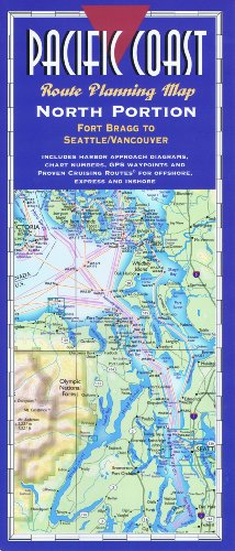 (Pacific Coast Route Planning Map, North Portion: Fort Bragg to Seattle/Vancouver - Laminated)
