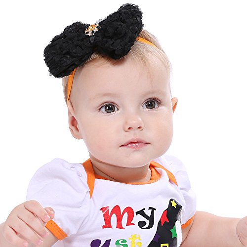 NPLE--Baby Hair Band Girls Infant Kid Headband Halloween Flower Party Hair Bow Hairpin (History Of Halloween Lesson Middle School)