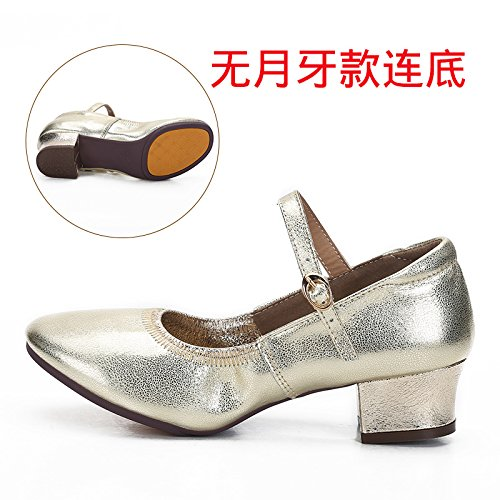 oren Trente-quatre Wuyulunbi@ Avec chaussures Chaussures fond mou Chaussures de Danse Danse
