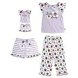 Dollie & Me Little Girls' 3pc Sleep Set, Purple/Multi, 4 offers