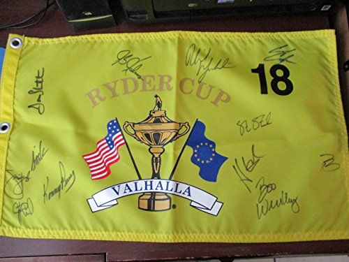 Ryder Cup Valhalla - 2008 PGA Ryder Cup Valhalla Signed USA flag by 12 Members