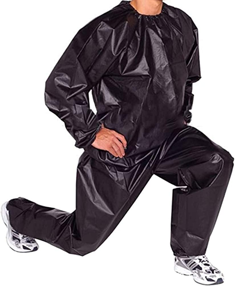 Amazon.com: Insuwun Fitness Cloths for Mens,Fitness Sweat Sauna Suit Weight Loss Full Body Sweat Sauna Suit Exercise Gym Anti-Rip PVC: Clothing