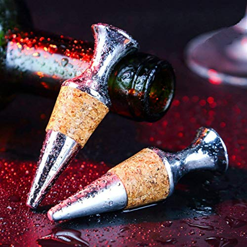 OSTRI Double Wine Reusable Caps Stoppers for Wine and Beer Bottles,Wine Bottle Stoppers Zinc Alloy Vacuum Stoppers Reusable Wine Bottle Caps/Beer Sealer Cover. ()