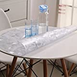 round tablecloth/PVC[Round table cloth waterproof]/Soft-proof glass table mat/ clear frosted plastic table cloth and waterproof circular table cloth-A diameter80cm(31inch)