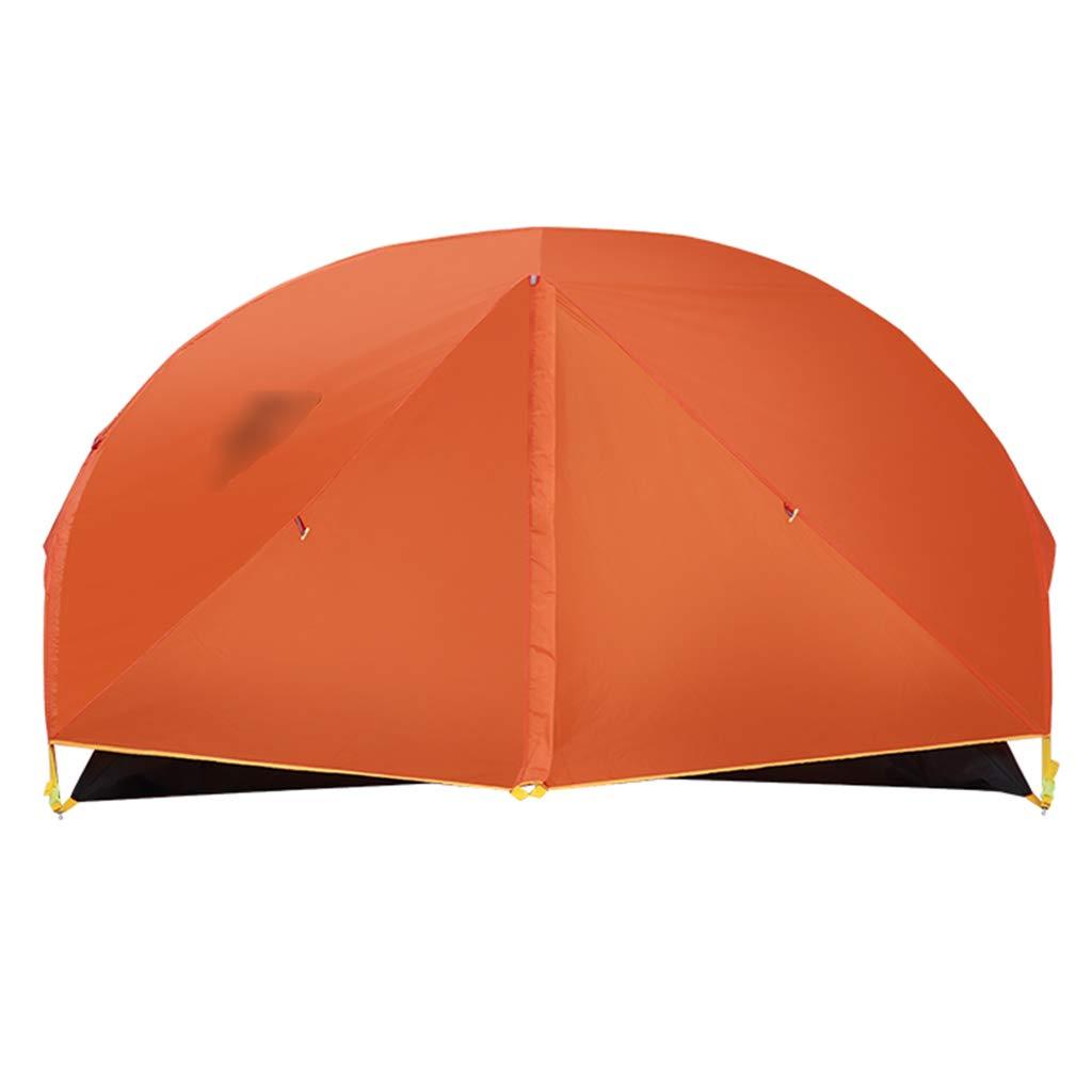 YaNanHome Festzelt Zelt des Zeltes des Zeltes im Freien 1-2 Zeltzeltpaarzelt, Das Zeltzelt klettert (Farbe : Orange, Größe : 205  140  110cm)