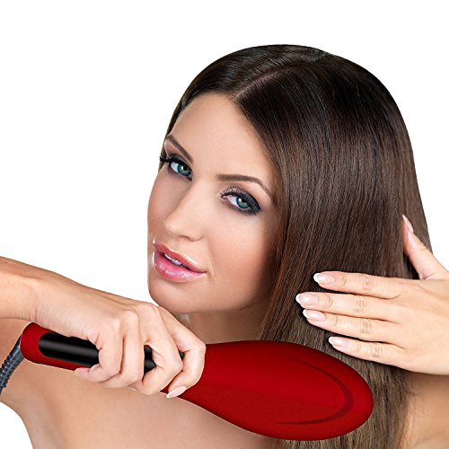Hot and Straight Straightening Salon Brush with Temperature