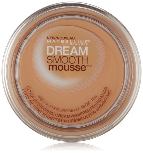 Maybelline New York Dream Smooth Mousse Foundation, Nude Beige, 0.49 Ounce