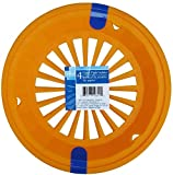 ORANGE - Plastic Paper Plate Holders - Set of 4, Reusable - for Baby Shower, Picnic, Party, Family gathering, Graduation, Wedding, Birthday, Celebration, Outdoors, Sports, and Childrens events (orange)