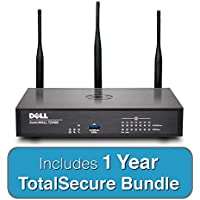 DELL SonicWALL TZ400W TotalSecure Bundle - Includes TZ 400W Wireless Firewall & 1 Year Comprehensive Gateway Security Suite