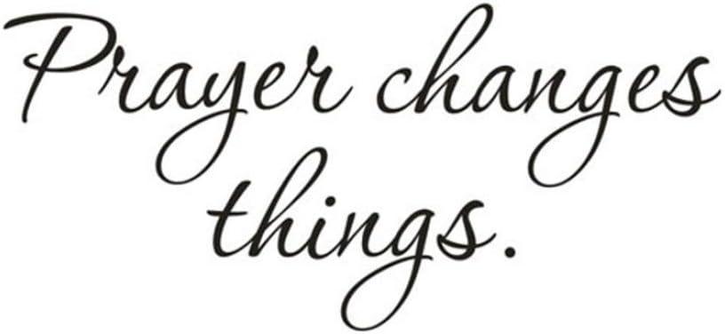 Amazon.com: yjydada pegatinas de pared, la oración cambia ...