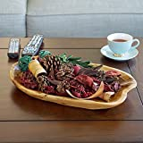 WELLAND Hand Crafted Root Wood Tray Large Appetizer Platter