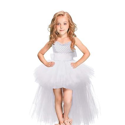 Styhatbag Vestidos Formales de Fiesta Espectáculo de Rendimiento de Navidad de Halloween Catwalk Girl Lace Puff