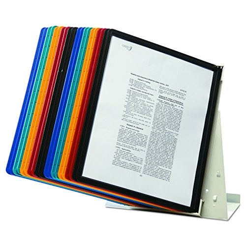 DURABLE Vario 20-Panel Desktop Reference System, Assorted Color Borders (536100) by Durable (Image #6)