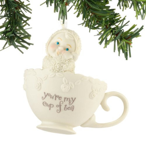 Department 56 Snowbabies You're My Cup of Tea Hanging Ornament, 2.5 inch