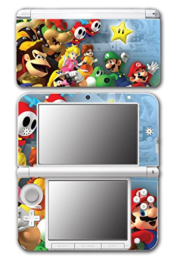 Super Mario Party Friends Island Tour Shy Guy Peach Yoshi Luigi Star Daisy Wario Bowser Video Game Vinyl Decal Skin Sticker Cover for Original Nintendo 3DS XL System (Yoshis Nintendo Island Ds)