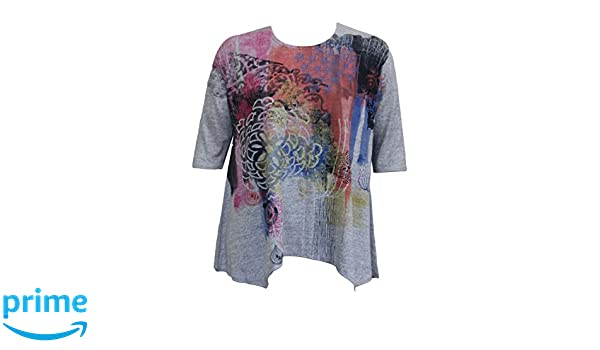 c59fe962cc9 Et'Lois Women's Abstract Floral Swing Tunic Top at Amazon Women's Clothing  store: