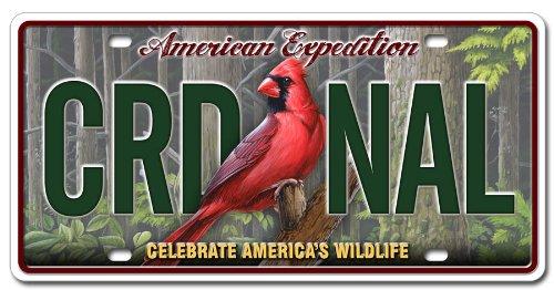 (Metal Wildlife License Plates (Northern Cardinal))
