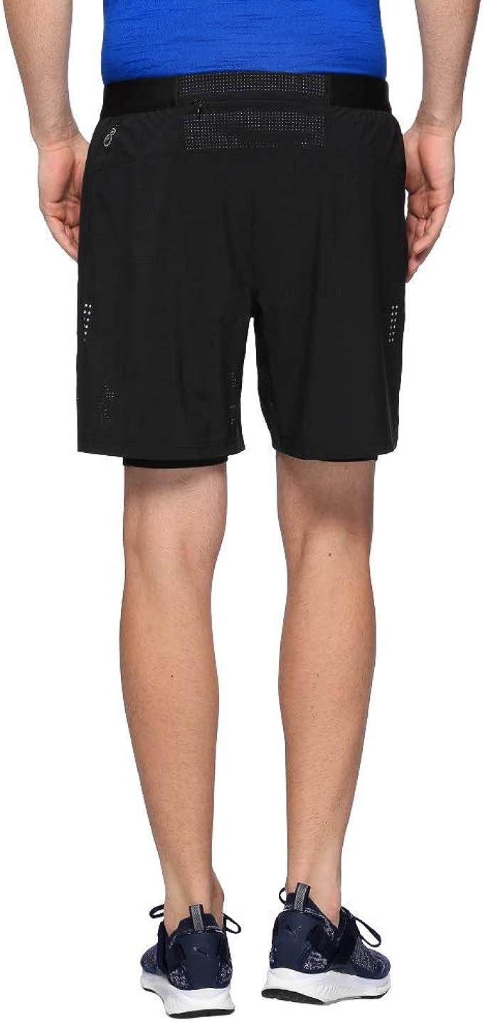 PUMA Herren Pace 2in1 7` Shorts Black, S: : Bekleidung