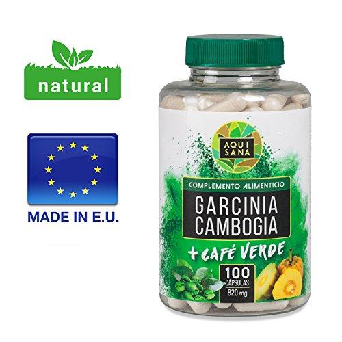 Garcinia Cambogia & Grüner Kaffee Tabletten, Green Coffee Fat Burner & Appetitzügler, 100 Fettverbrenner Pillen, natürliches Nahrungsergänzungsmittel, Grüner Kaffee Extrakt, Grüner Kaffee Diät
