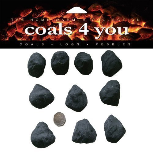 10 Small Cast 10 Large Cast Ceramic Gas Fire Coals IN COALS 4 YOU BRANDED PACKAGING